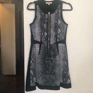 Rebecca Taylor Black/White Python Dress, Size 4